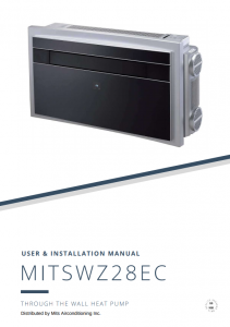 MITSWZ28EC User and Installation Manual